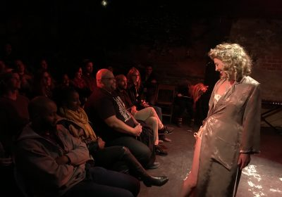 Tabby as Blanche at Ten-Foot Rat Cabaret.